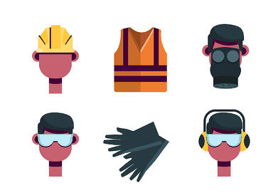 Personal protective  equipment vector 1