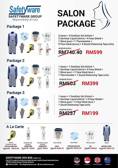 Safetyware Salon Package